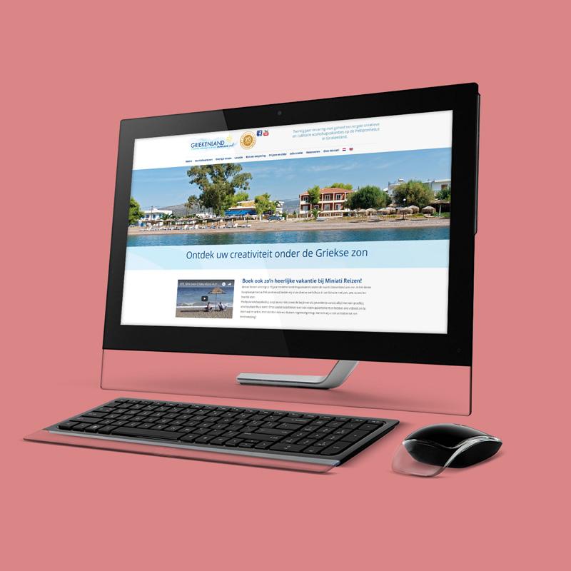 Ontwerp en technische realisatie van de website en ander promotiemateriaal voor Miniati Reizen