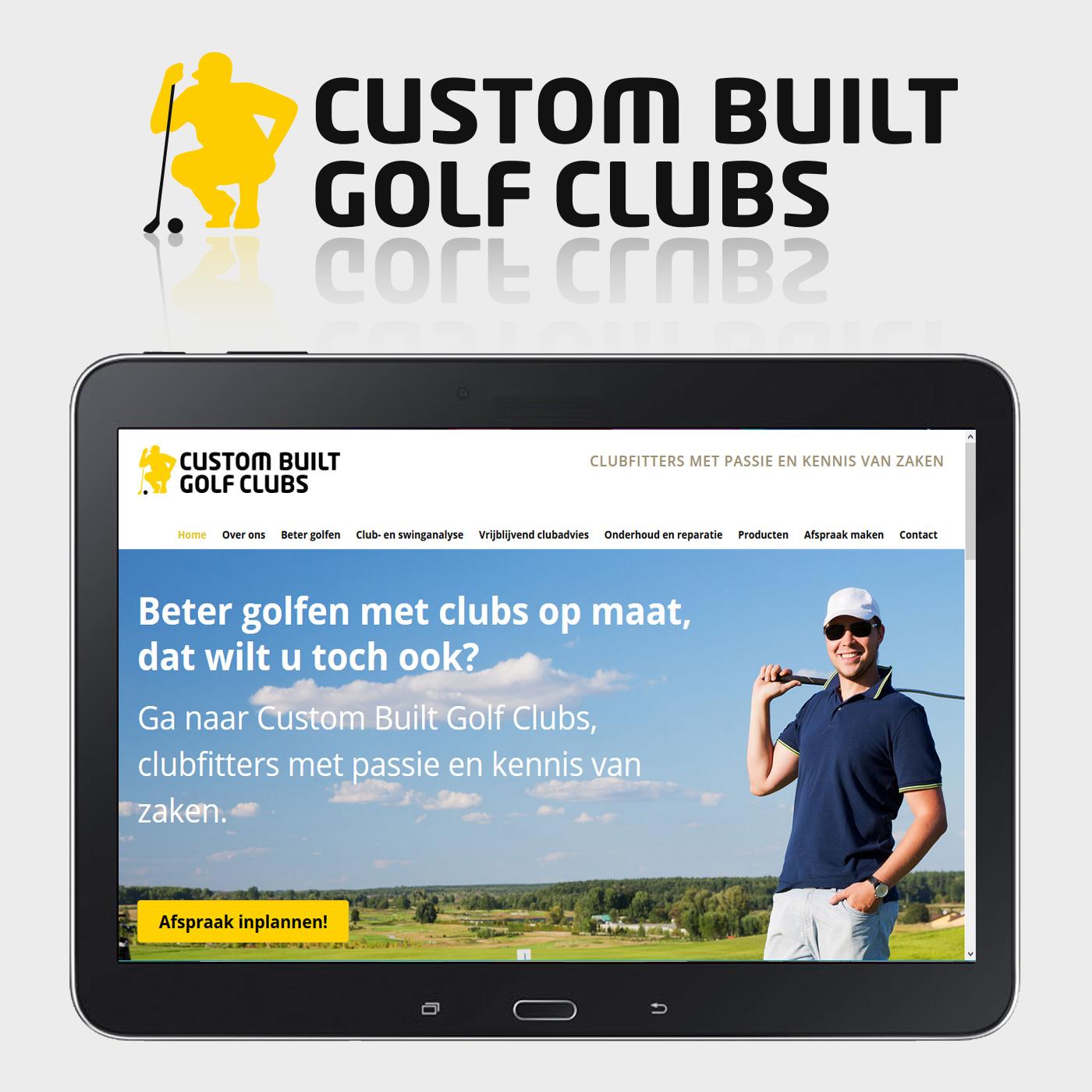 Voor Custom Built Golf Clubs maakte ik o.a. het logo en de website.
