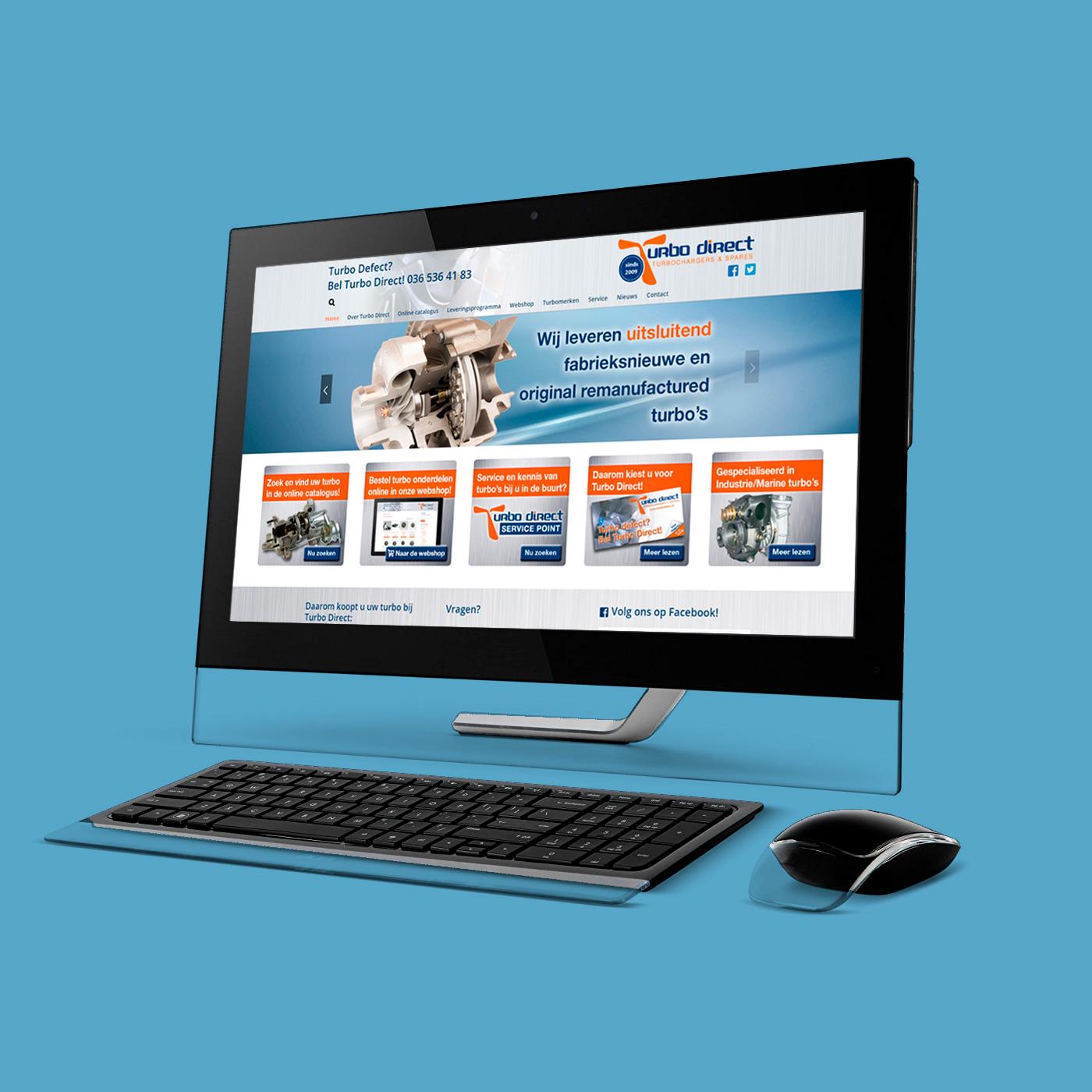 Voor Turbo Direct verzorg ik ontwerp en productie van o.a. de website, huisstijl en promotiemateriaal.